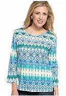 Jane Ashley Ikat Printed Top