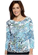 Jane Ashley Butterfly Printed Top