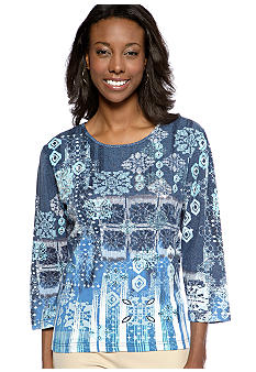Jane Ashley Kaliedoscope Medallion Top