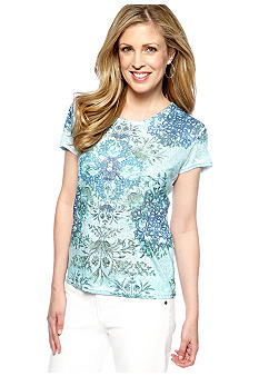 Jane Ashley Embellished Scoop Neck Tee