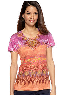 Jane Ashley Short Sleeve Scoop Neck Tee