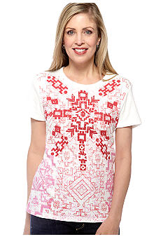 Jane Ashley Medallion Print Top