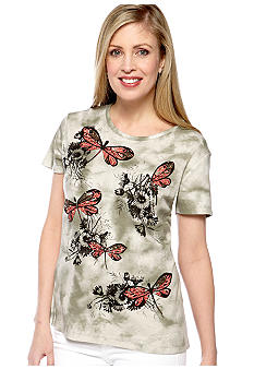 Jane Ashley Tye Dye Dragonfly Top
