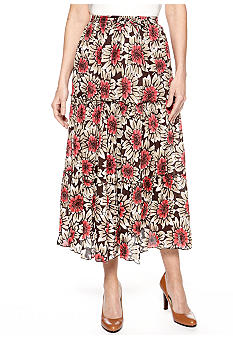 Jane Ashley Three Tier Print Skirt