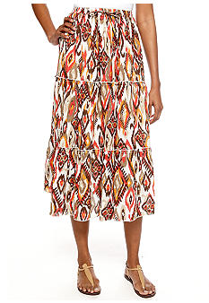 Jane Ashley Three Tier Broom Stick Skirt