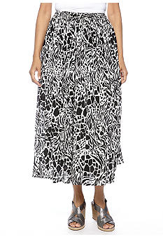 Jane Ashley Animal Printed Skirt
