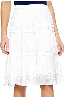 Jane Ashley Solid Skirt with Pleats