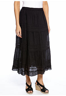 Jane Ashley Petite Tiered Maxi Skirt