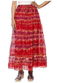 Jane Ashley Seven Tier Printed Skirt