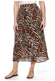 Jane Ashley Broom Stick Printed Maxi Skirt