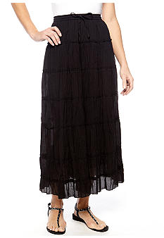 Jane Ashley Seven Tier Solid Skirt