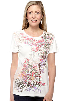 Jane Ashley Scroll Print Top