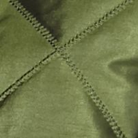 Petite Coats: Army Olive Metallic Jane Ashley Petite Quilted Metallic Vest