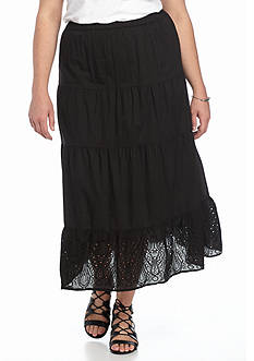 Jane Ashley Plus Size Voile Skirt