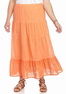 Jane Ashley Plus Size Voile Skirt