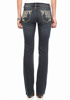 Earl Jean Corner Scroll Pocket Boot Cut Jean