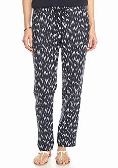 Sharagano Printed Linen Pants
