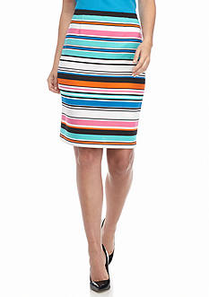 Sharagano Stripe Scuba Skirt