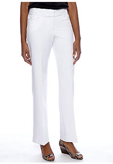 Sharagano White Career Pant