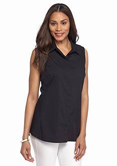 Sharagano Sleeveless Shirt with Back Detail
