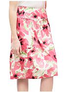 Sharagano Floral Pleat Skirt