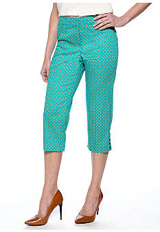 Sharagano Dot Print Cropped Pant