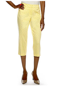 Sharagano Dot Print Capri