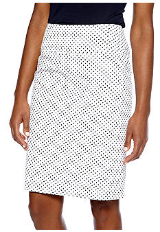 Sharagano Dot Print Pencil Skirt