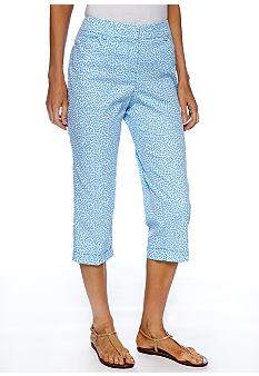 Sharagano Chambray Printed Crop Pant