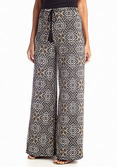 Sharagano Tribal Print Soft Pant