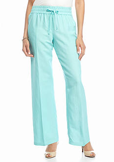 Sharagano Linen Drawstring Pants