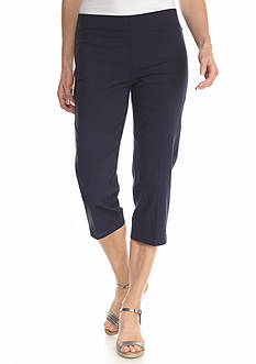 Sharagano Solid Slimming Capri Pants