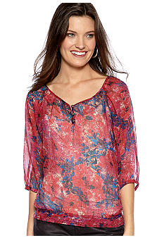 Nine West Vintage America Collection Natalya Floral Blouse