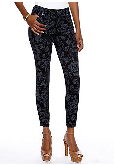 Nine West Vintage America Collection Floral Matchstick Skinny Jean