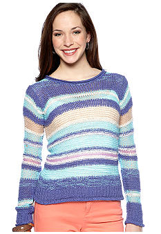 Nine West Vintage America Collection Blossom Stripe Sweater