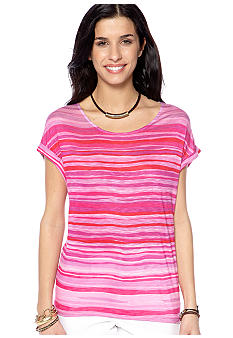 Nine West Vintage America Collection Freesia Striped Tee