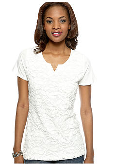Nine West Vintage America Collection Snow Drop Lace Tee