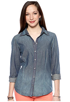 Nine West Vintage America Collection Layla Denim Shirt