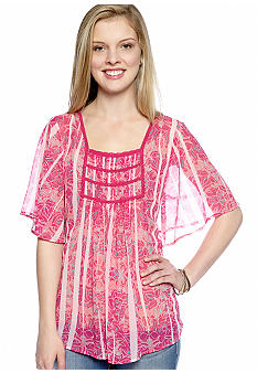 Nine West Vintage America Collection Dawn Paisley Peasant Blouse