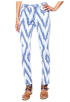 Nine West Vintage America Collection Matchstick Skinny Printed Ankle Jean