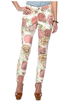 Nine West Vintage America Collection Blossom Print Ankle Jean Capri