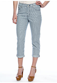 Nine West Vintage America Collection Railroad Striped Capri