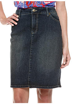 Nine West Vintage America Collection Five Pocket Jean Skirt