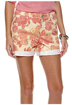 Nine West Vintage America Collection Cuffed Floral Print Short