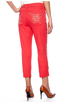 Nine West Vintage America Collection Haley Heavy Stitch Denim Capri