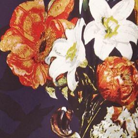 Cinco De Mayo Outfits: Nordic Purple Swiss Vintage America Blues Kara Floral Print Blouse