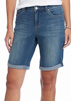 Vintage America Blues Boho Bermuda Shorts