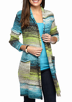 Ruby Rd Well Traveled Shawl Collar Boucle Cardigan