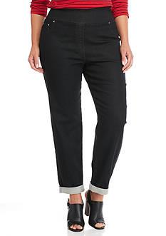 Ruby Rd Plus Size Key Items Black Denim Pants