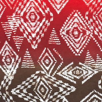 Women: Ruby Rd Tops: Carmine Multi Ruby Rd Must Haves Three-Quarter Sleeve Diamond Ombre Print Knit Top